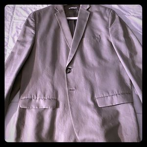 Gray Calvin Klein Slim Fit Sports Jacket